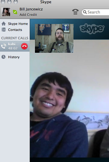Connecting with Kabimbetas by Skype