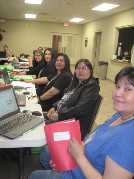 The Oji-Cree translation team
