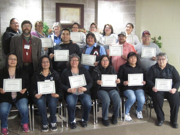 First Nations Mother Tongue Translators at the 2015 workshop